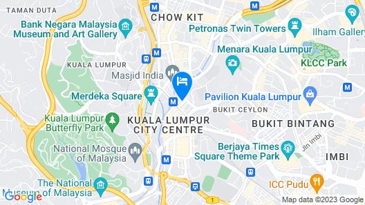 Ahyu Hotel Map