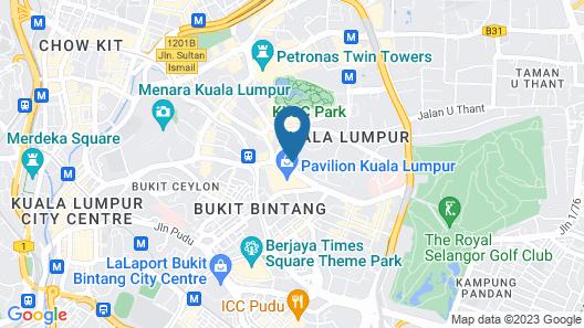 PH Suites at Pavilion Bukit Bintang Map