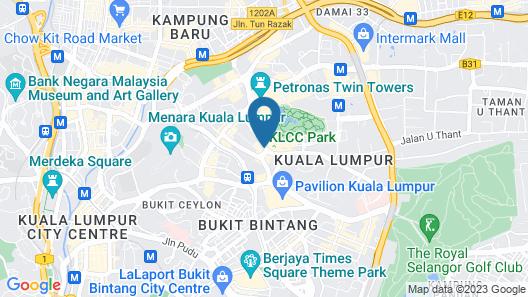 Grand Hyatt Kuala Lumpur Map