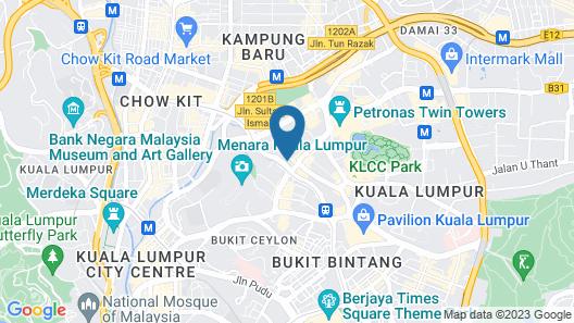 Luxe Suites at Vortex KLCC Map