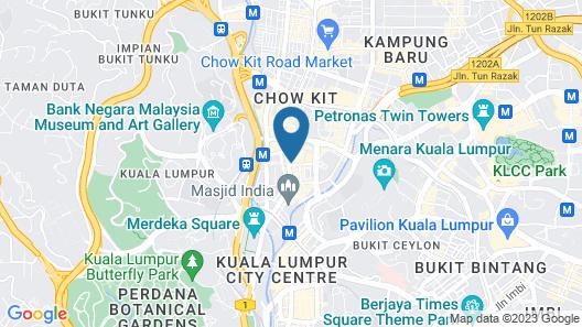 M Palace Hotel Map