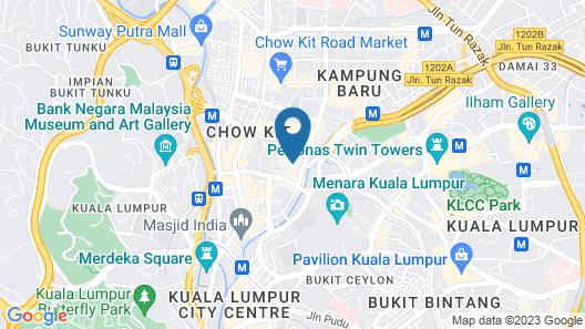 Hotel Stripes Kuala Lumpur, Autograph Collection Map