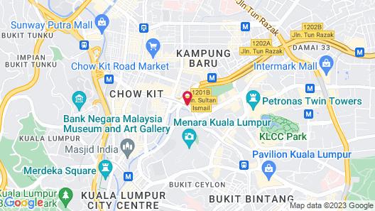 The Face Suites Kuala Lumpur Map