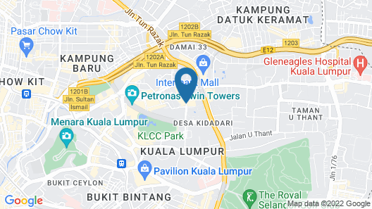 Perdana Kuala Lumpur City Centre Map