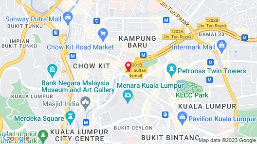 Saba Suites at The Platinum KLCC Bukit Bintang Kuala Lumpur Map