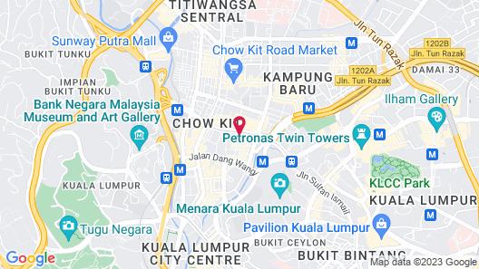 Sheraton Imperial Kuala Lumpur Hotel Map