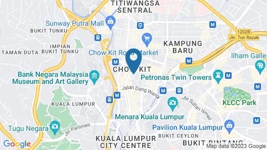 Prescott Hotel KL Medan Tuanku Map