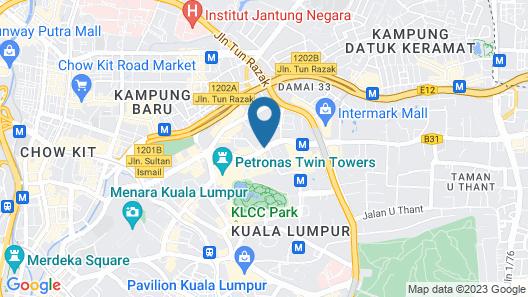 Corus Hotel Kuala Lumpur Map