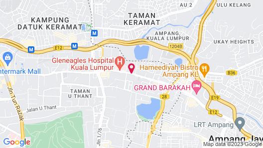 M City Jalan Ampang Map