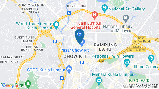 Hilton Garden Inn Kuala Lumpur Jalan Tuanku Abdul Rahman North Map