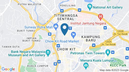 EDC Hotel Kuala Lumpur Map