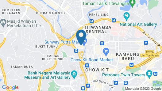 Sunway Putra Hotel, Kuala Lumpur Map