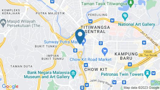 Seri Pacific Hotel Kuala Lumpur Map