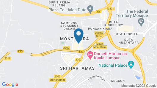 Hyatt House Kuala Lumpur, Mont Kiara Map