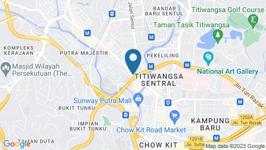 Dynasty Hotel Kuala Lumpur Map