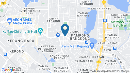 Hotel 99 - Kepong Map