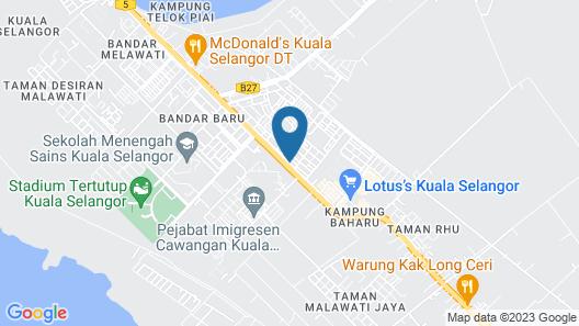 Sun Inns Hotel Kuala Selangor Map