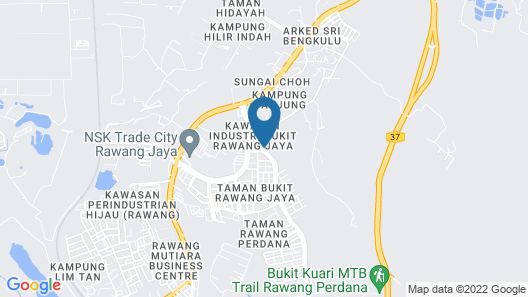Hotel Casavilla Rawang Map