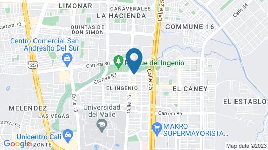 Apartamentos Amoblados El Ingenio Map