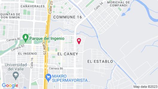 Apartahotel Turístico Jardines Del Caney Map