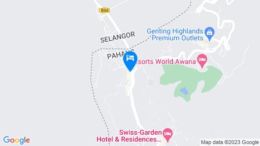 Hotel Seri Malaysia Genting Highlands Map