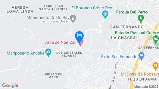 El Arca de Noe Cali Cristo Rey Map