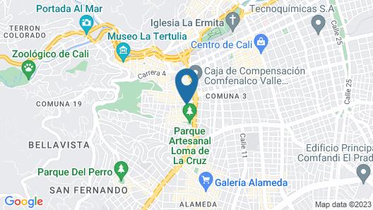 Hostal Siete Rios Cali - Hostel Map