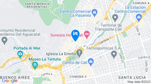 Gran Hotel Cali Map