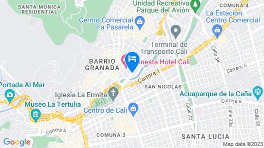 Torre De Cali Plaza Hotel Map