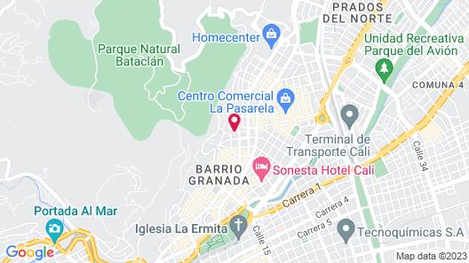 Hotel Casa Santa Monica Norte Map