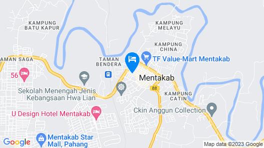 Hotel Jelai Mentakab Map