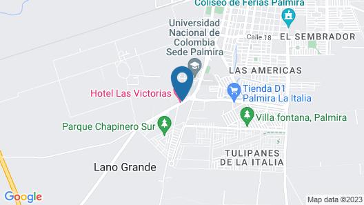 Hotel Las Victorias Map