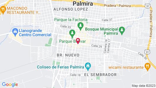 Hotel Thama Palmira Map