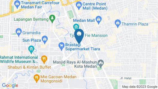 Hermes Palace Hotel Medan Map