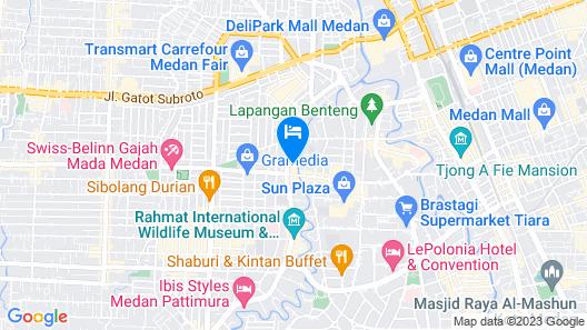 Cambridge Hotel Medan Map