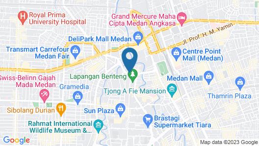 Santika Premiere Dyandra Hotel & Convention - Medan Map