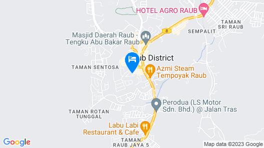 Hotel Jelai Raub Map