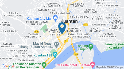 Hotel Grand Continental Kuantan Map