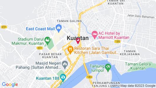 Grand DarulMakmur Hotel Kuantan Map