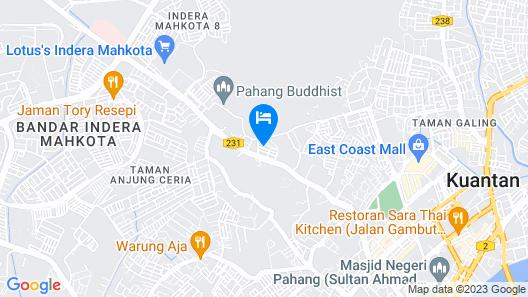 Sun Inns Rest House Kuantan Map