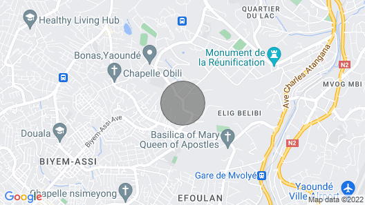 MAGNIFICENT FURNISHED VILLA NYOM 2 YAOUNDE Map