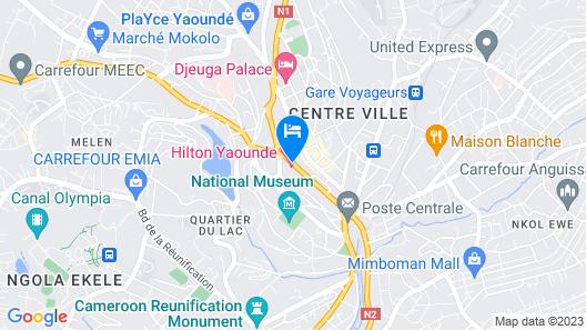 Hilton Yaounde Map