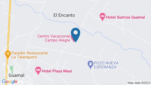 Centro Vacacional Campo Alegre Map