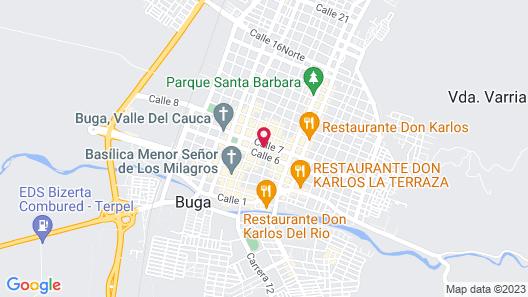 Hotel Casa Escobar Buga Map