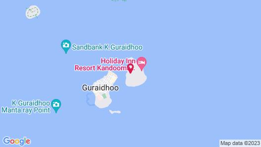 Holiday Inn Resort Kandooma Maldives Map
