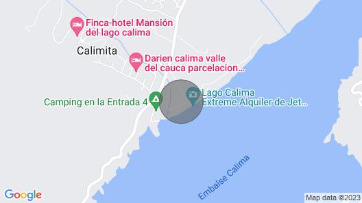Beautiful Cabin Facing Calima Lake Map