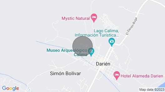 El HOTEL COLINAS DEL DARIEN - Lago Calima. 1BR/1BR Unidad 1 Map