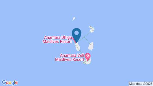 Anantara Dhigu Maldives Resort Map