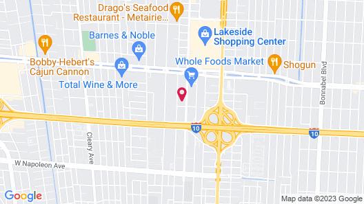 Fairfield Inn & Suites by Marriott New Orleans Metairie Map