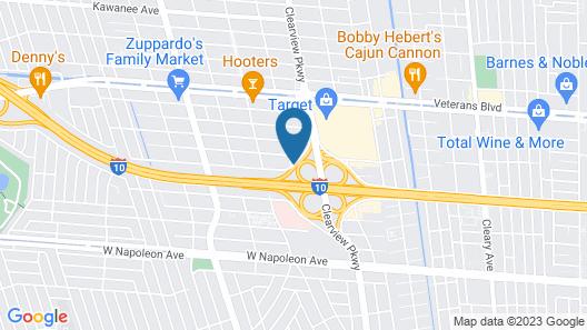 Sleep Inn & Suites Metairie Map